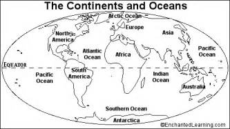 continents and oceans quiz printout enchantedlearning com