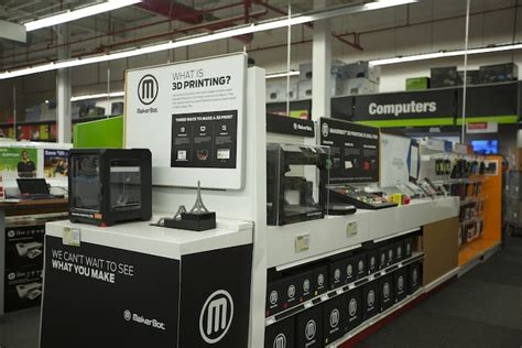 home technology store makerbot 3d printers finally in staples home depot stores