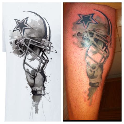 dallas cowboys star tattoo my dallas cowboys that s pretty freakin cool