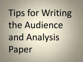 how to write an audience analysis paper audience analysis paper tips