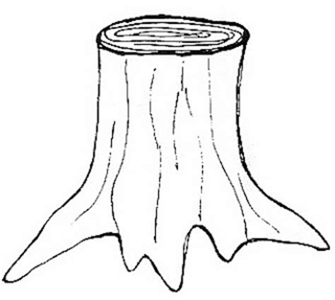 Stump Outline by January 2013 Kindergarten Worksheet Guide Pictures Clip Line Drawing Coloring Pictures
