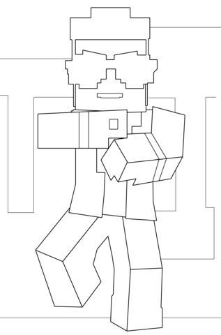 imagenes de minecraft a blanco y negro dibujo de gangnam style de minecraft para colorear