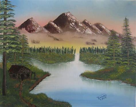 bob ross paintings mountains bob ross mountain retreat painting bob ross mountain