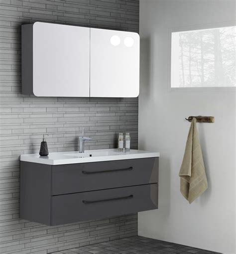 rounded corner bathroom vanity more masculine layout with grey gloss furniture and black