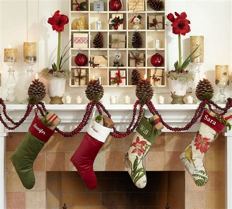 christmas decor in the home holiday decorating 2010 by pottery barn digsdigs