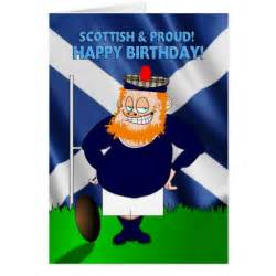 scottish and proud rugby birthday card zazzle