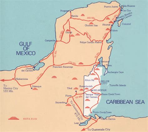 eastern mexico map belize maps