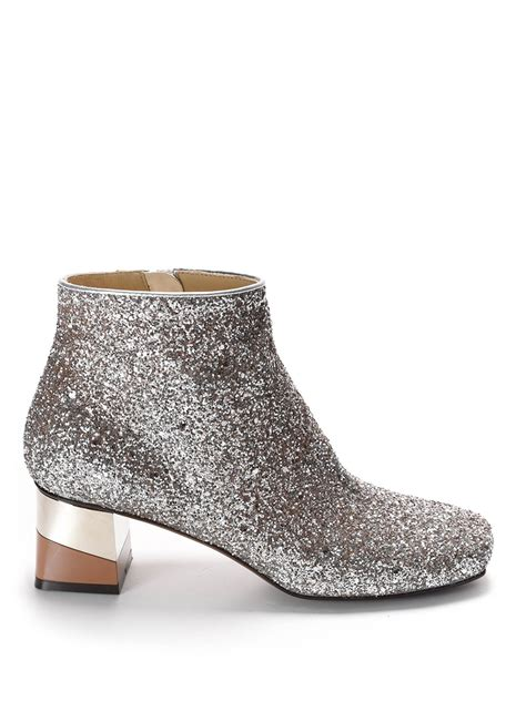 Boots E Glitter Putih New heeled glitter ankle boots by l autre chose ankle boots