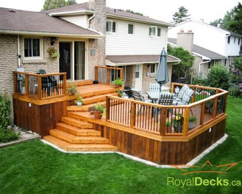 two tier deck ideas pictures remodel and decor