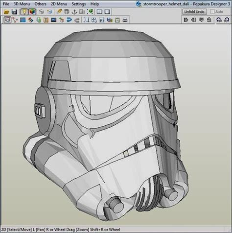 stormtrooper helmet template papermau wars werable trooper helmet