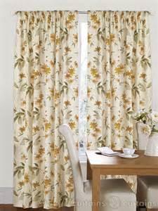 Natural Floral Curtains Amazon Natural Cream Floral Pencil Pleat Curtain Curtains Uk