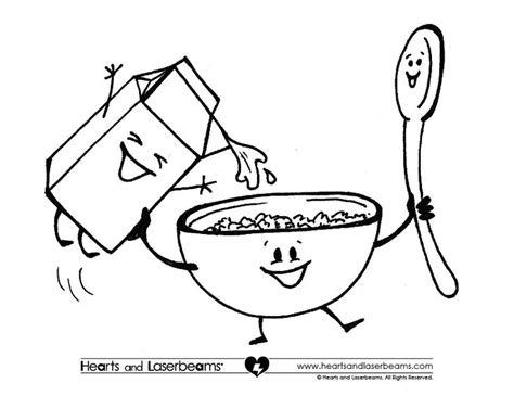 Free Coloring Pages And Cereal Milk On Pinterest sketch template
