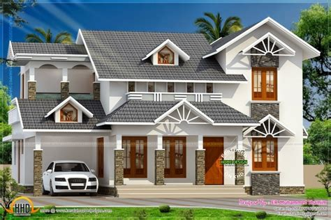 incredible simple roof style and beach house plans flat incredible nice sloped roof kerala home design indian