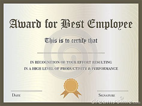 best employee award template certificate stock illustration image 48864425