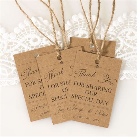 2014 Home Decor Color Trends by Vintage Themed Wedding Favor Tags Thank You Cards Ewfr025