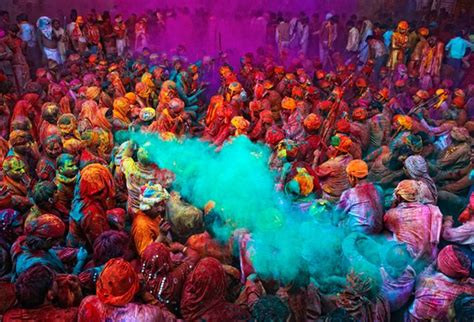 great atmosphere festival of colours in india great