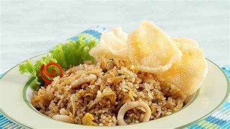 resep nasi goreng cumi  ebi menu sarapan  enak