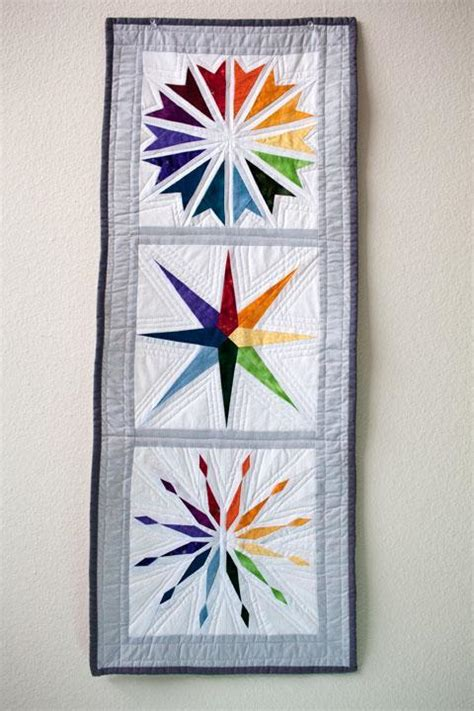 Quilt Patterns For Wall Hangings by You To See Rainbow Wall Hanging Quilted By
