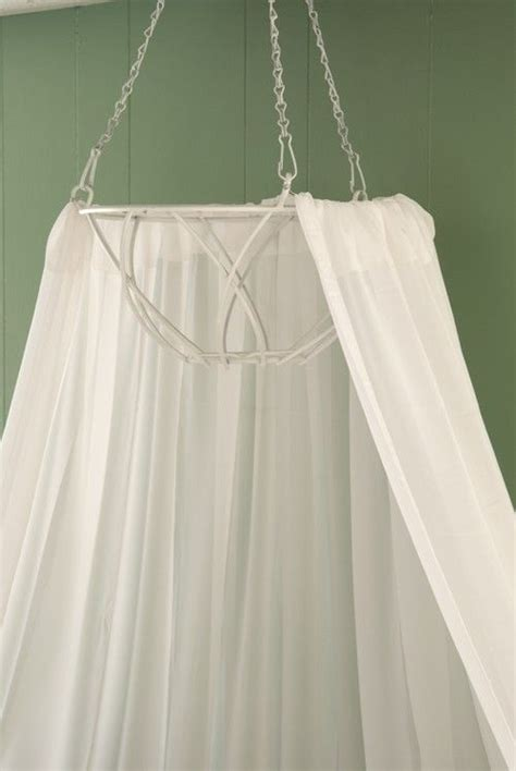 diy canopy with lights bed without post diy bed canopy from hanging basket i would add