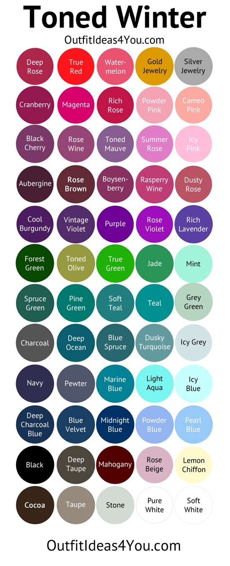 winter color palette 18 best seasonal color palettes images on