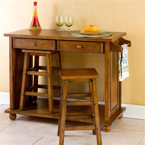 Oak Kitchen Islands With Stools by Best 25 Portable Kitchen Island Ideas On