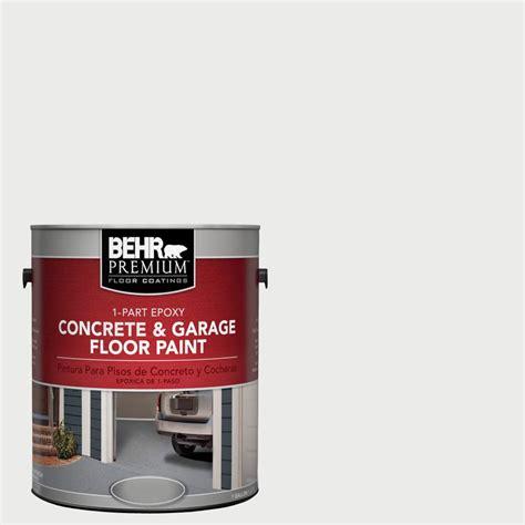 Garage Floor Paint White Behr Premium 1 Gal 52 White 1 Part Epoxy Concrete And