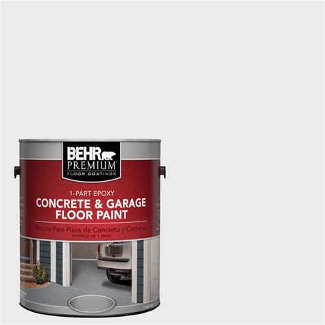 behr premium 1 gal 52 white 1 part epoxy concrete and