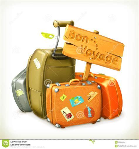 clipart viaggi buon viaggio borse di viaggio e segno illustrazione