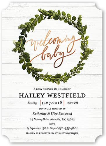Welcoming Baby Shower by Welcoming Wreath Custom Baby Shower Invitations Shutterfly