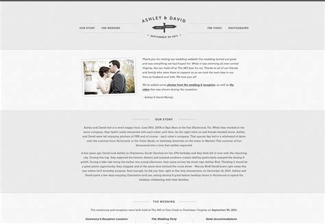 25  wonderful wedding websites   Webdesigner Depot