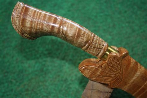 Pisau Caribou Edisi Terbaru golok langkasuka item 0037 pisau sarung kayu ranggu