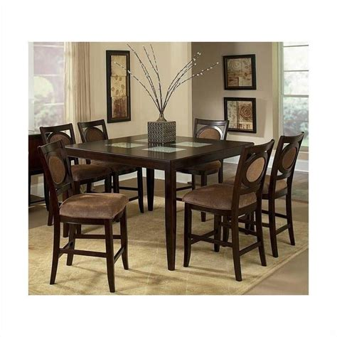 pub dining room set steve silver montblanc 5pc pub dining room set in merlot