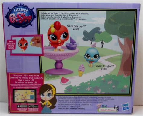 lps bathroom set littlest pet shop birds bath time fun play set