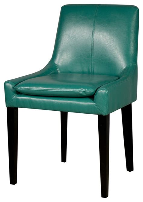 bonded leather chair turquoise contemporary