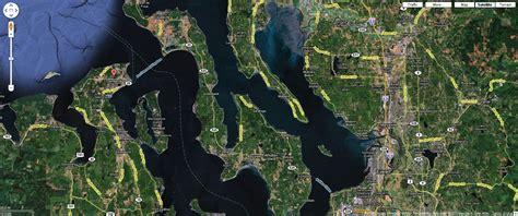 seattle map satellite seattle to port townsend satellite map 01