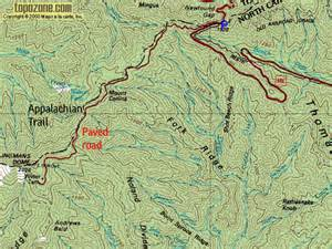 u s mountains route descriptions mt collins clingman