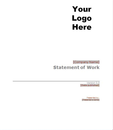 project management statement of work template project management sow statement of work