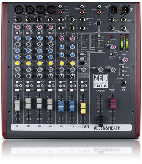 Mixer Allen Heath Zed 12 Fx zed60 10fx allen heath
