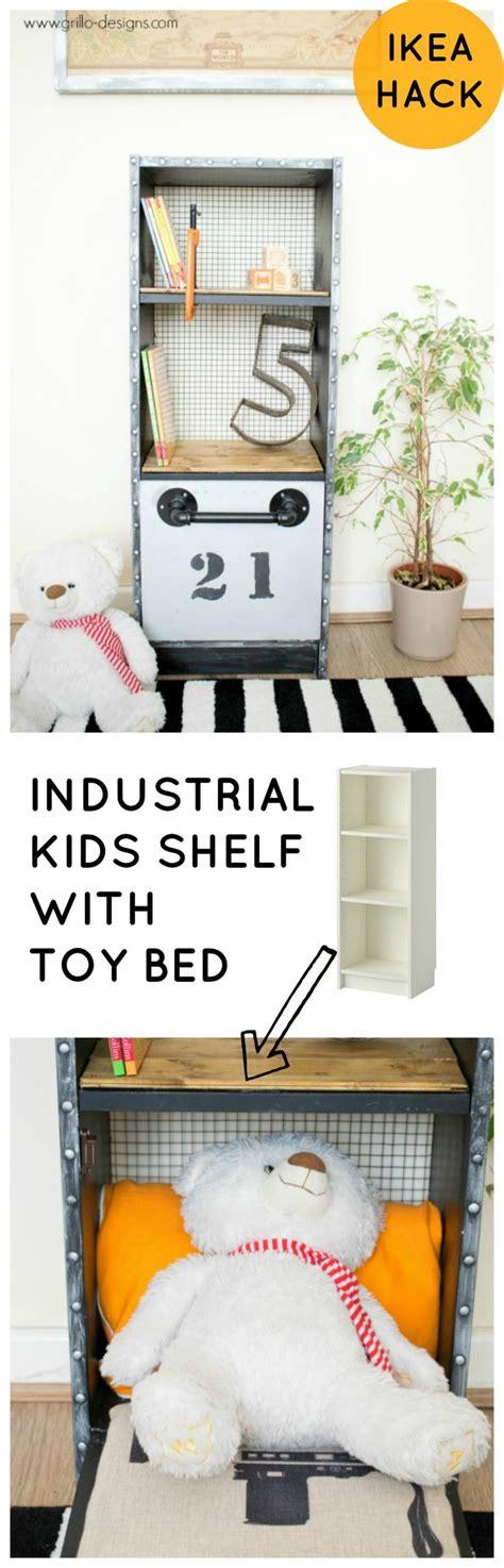 ikea hack bed bridge bookcase ikea hack industrial kids shelf with toy bed ikea billy