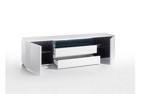 Meuble Tv Laque Blanc Brillant by Meuble Tv Design Laqu 233 Blanc Brillant Cbc Meubles