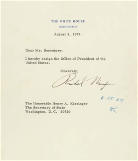 Resignation Letter White House The Last Hours Of The Nixon Presidency History In The Headlines