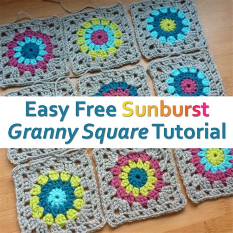 pattern for simple granny squares crochet easy free sunburst granny square crochet pattern