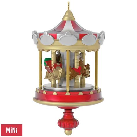 2017 christmas carousel hallmark miniature ornament