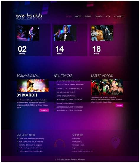entertainment template 10 free entertainment html5 css3 website templates