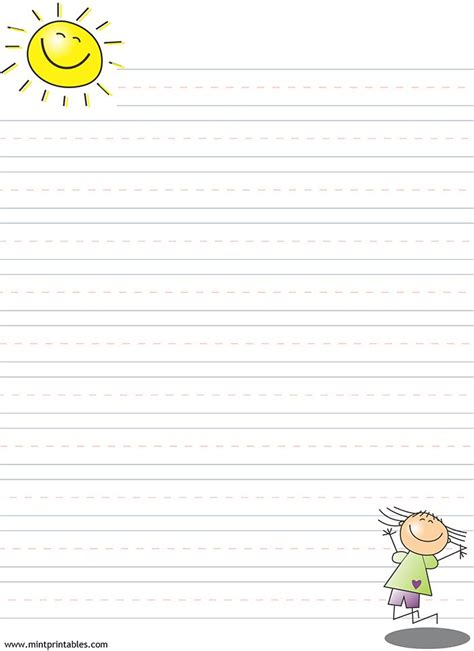 printable paper learning to write free printable writing pages for kids printable lined