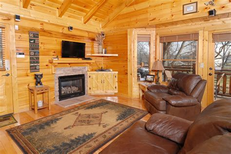Decorating Rental Homes by Pigeon Forge Riverfront Two Bedroom Vacation Cabin Rental
