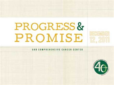 uab news cancer center to showcase progress promise