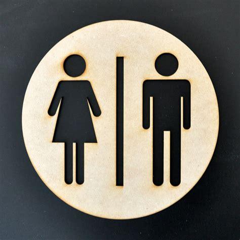 diy bathroom signs restroom sign mens womens unisex silhouette by sayhelloshop