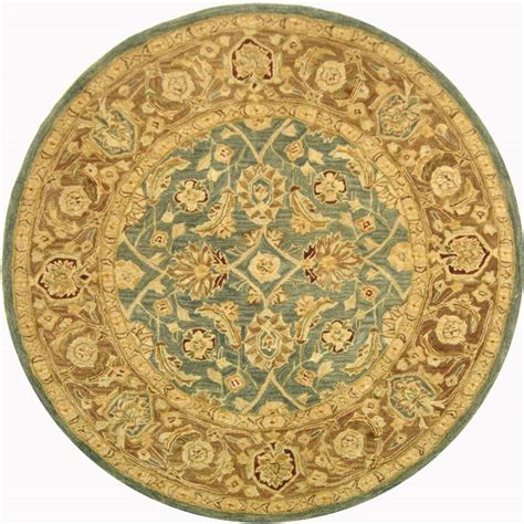 8 Ft Area Rugs by Safavieh Anatolia Blue Brown 8 Ft X 8 Ft Area Rug