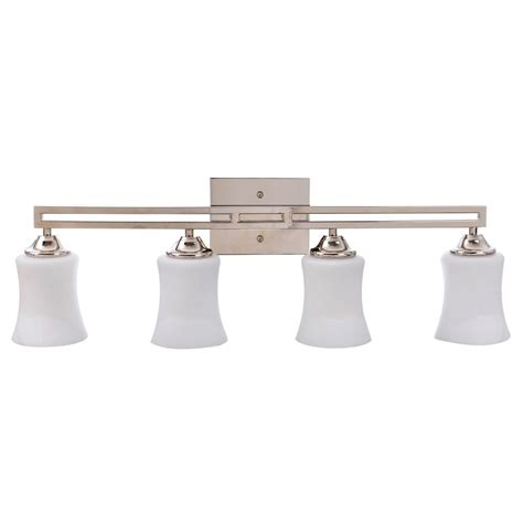 hton bay 4 light brushed nickel wall vanity light cbx1394 2 sc 1 the home depot hton bay landray 3 light brushed nickel vanity light hjc1393a 3 the home depot